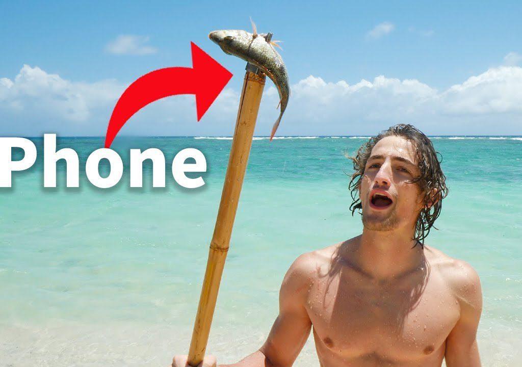 【信誓蛋蛋】網紅荒島上求生 用iPhone自製魚叉能用嗎?