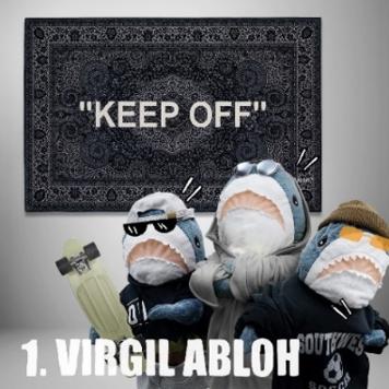 ▲ IKEA Off-White聯名地毯(取自IKEA臉書粉專)