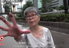 【Chong San 沖さん】香港70歲婆不滿受到堵路 批評反送中示威者自私