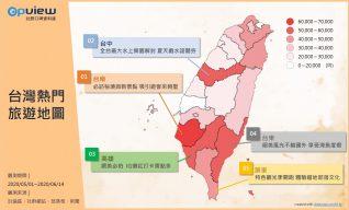 台灣熱門旅遊地圖