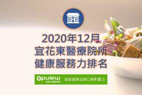 12月宜花東地區醫院健康服務力排行榜評析