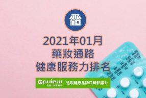 01月藥妝通路健康服務力排行榜評析