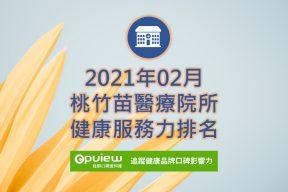 02月桃竹苗地區醫院健康服務力排行榜評析
