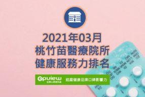 03月桃竹苗地區醫院健康服務力排行榜評析