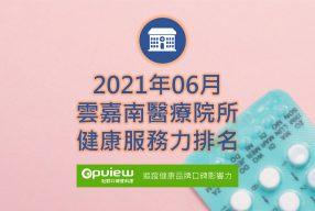 06月雲嘉南地區醫院健康服務力排行榜評析