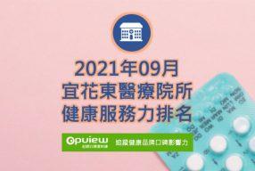 09月宜花東地區醫院健康服務力排行榜評析