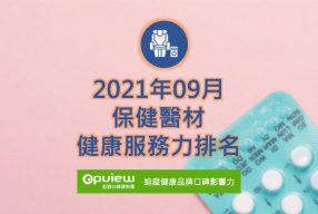 09月保健器材健康服務力排行榜評析