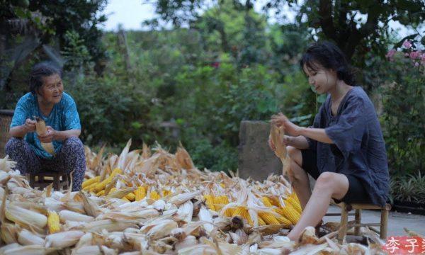 【李子柒 Liziqi】遵循古法從農田到餐桌 秋生夏長的玉米料理DIY